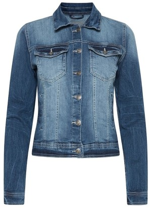 B.young Pully Denim Jacket in Medium Blue 20803132 - 34 | blue | cotton - Blue/Blue