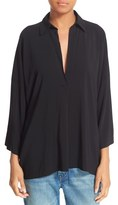 Vince Women's Oversize Johnny Collar Blouse