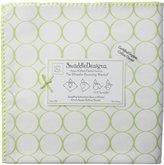 Swaddle Designs Organic Ultimate Receiving Blanket - Circles on Ivory, Kiwi Mod