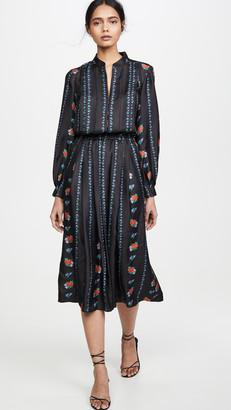 Tory Burch Printed Long Sleeve Dress