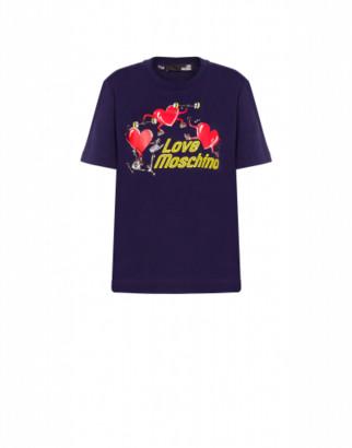 Love Moschino Jersey T-shirt Workout Hearts