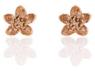 Lee Renee Cherry Blossom Earrings Rose Gold