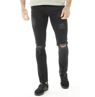 Firetrap Mens Ripped Skinny Jeans Black
