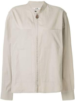Hermes Pre-Owned band collar invisible zip blouse