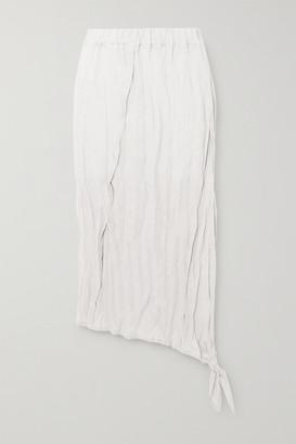 Acne Studios Crinkled-linen Midi Skirt - White