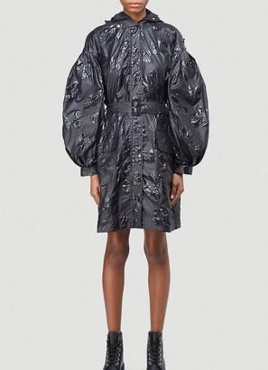 MONCLER GENIUS Moncler X Simone Rocha Floral Belted Raincoat