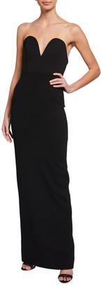 SOLACE London Nika Sweetheart Strapless Dress