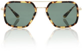 Prada Square aviator sunglasses