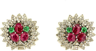 Arthur Marder Fine Jewelry Silver 5.81 Ct. Tw. Diamond & Gemstone Earrings