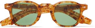 Jacques Marie Mage Zephirin Havana Round-Frame Tortoiseshell Acetate Sunglasses