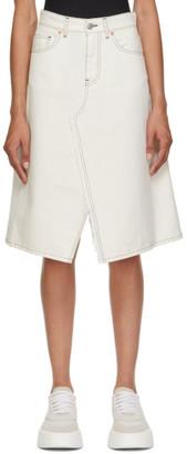 MM6 MAISON MARGIELA Off-White Denim A-Line Skirt