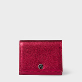 Paul Smith Women's Metallic Red Leather Compact Wallet