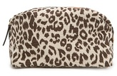 MANGO TOUCH - Canvas leopard cosmetic bag