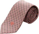 Versace Pink & Black Geometric Silk Tie