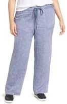 Plus Size Women's Caslon Drawstring Linen Pants