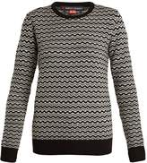 PERFECT MOMENT Frequency zigzag-intarsia wool sweater