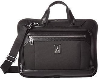 Travelpro Platinum(r) Elite - Slim Business Brief (Shadow Black) Briefcase Bags