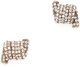 Marc Jacobs Pave Twisted Stud Earrings
