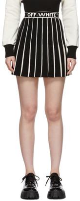 Off-White White and Black Swans Miniskirt