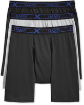 Hanes Men's 3-Pk. X-Temp Synthetic Boxer Briefs - Black/Grey