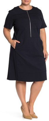 Lafayette 148 New York Demi Seam Detail Dress (Plus Size)
