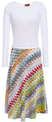 Missoni Cotton-blend Ribbed And Crochet-knit Dress