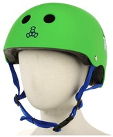 Triple Eight Little Tricky Dual Certified Youth Helmet with EPS Liner (Junior) (Green Rubber) - Accessories