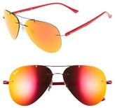 Ray-Ban Women's Tech 59Mm Aviator Sunglasses - Gunmetal