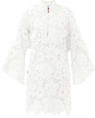 La Vie Style House - No. 204 Guipure-lace Kaftan - White