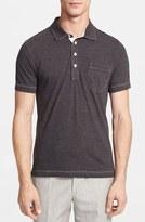 Billy Reid Men's 'Pensacola' Mini Stripe Slim Fit Jersey Polo