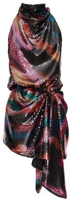 ATTICO Sequinned Halterneck Dress