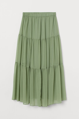H&M MAMA Crinkled skirt