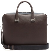 Dunhill Cadogan bi-colour leather briefcase
