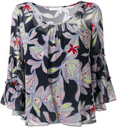 See by Chloe floral pattered top - women - Silk/Cotton - 34