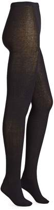 Hue Cable-Knit Cotton Blend Sweater Tights
