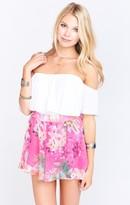 MUMU Carlos Swing Shorts ~ Tropical Barbie