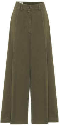 Dries Van Noten Cotton-twill wide-leg pants