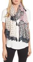 Rebecca Minkoff Mixed Rosette Oblong Scarf
