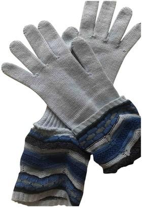 Missoni Blue Wool Gloves