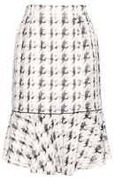 Nina Ricci Embroidered Checked Skirt