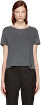 Amo Grey Twist Cut-out T-shirt