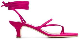 Paris Texas Lace-Up 45mm Sandals