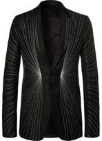 Rick Owens Black Embroidered Wool-Blend Blazer