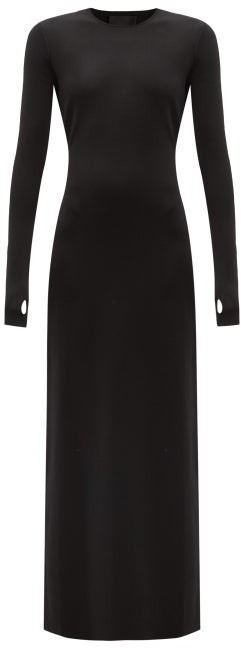 Thumbnail for your product : Givenchy Cutout-back Jersey Maxi Dress - Black