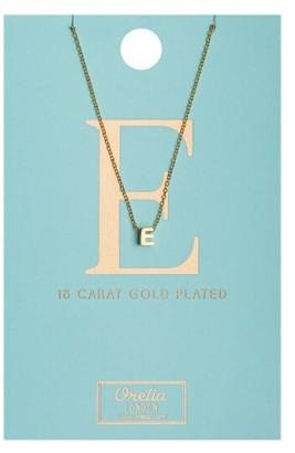 Orelia Gold Plated Initial E Necklace