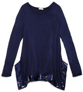 Splendid Girls' Long Sleeve Top with Sequin Trim - Sizes 7-14