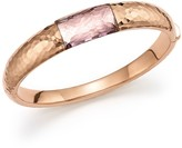 Roberto Coin 18K Rose Gold Martellato Bangle with Amethyst