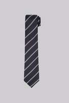 Hardy Amies Navy & Grey Stripe Tie