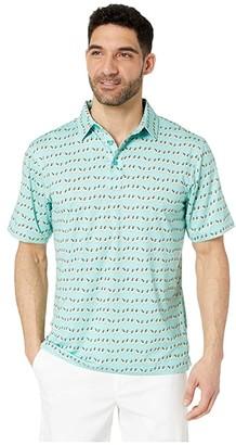 Straight Down Kahiko Polo (Seaside) Men's Short Sleeve Knit