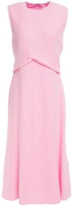Victoria Beckham Gathered Crepe Midi Dress